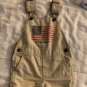 Oshkosh flag shorts  overalls